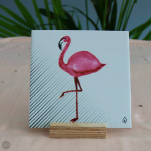 Decoratieve tegel – flamingo